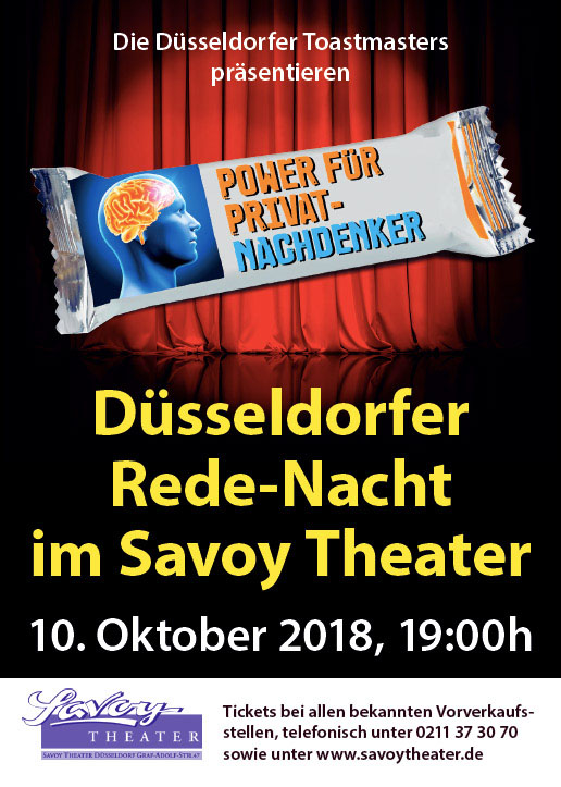 DTM Flyer Savoy Theater DIN A6 - Front